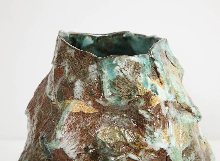Brutalist Large Sculptural Vase #4 by Dena Zemsky For Sale