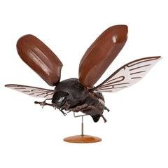 Large Sculpture of Beetle in Flight