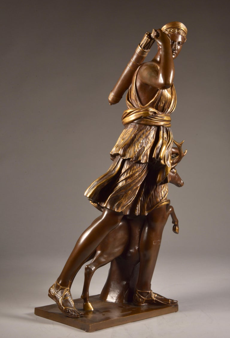 Large Sculpture of Diana the Huntress, F. Barbedienne & A. Collas, 19th Century For Sale 3