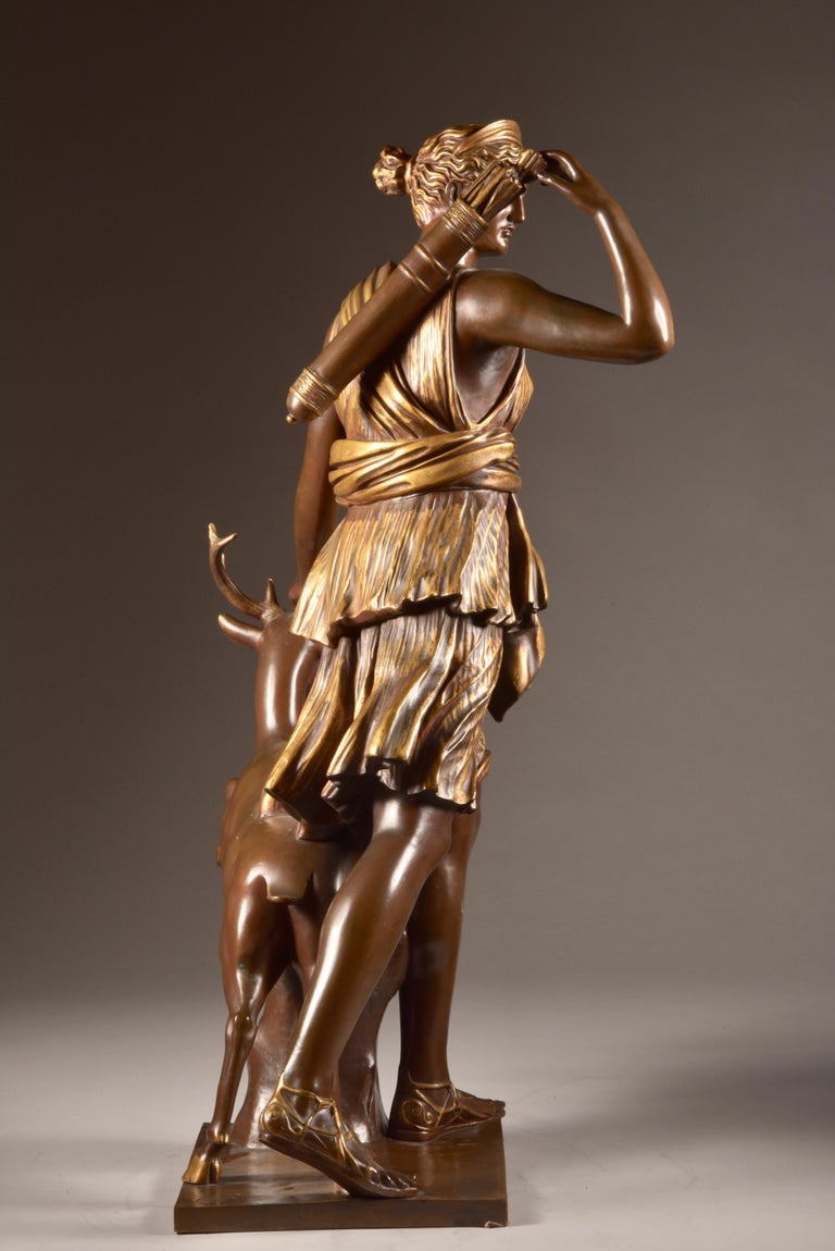 Large Sculpture of Diana the Huntress, F. Barbedienne & A. Collas, 19th Century For Sale 5