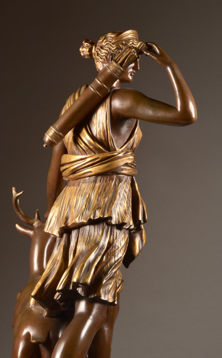 Large Sculpture of Diana the Huntress, F. Barbedienne & A. Collas, 19th Century For Sale 6