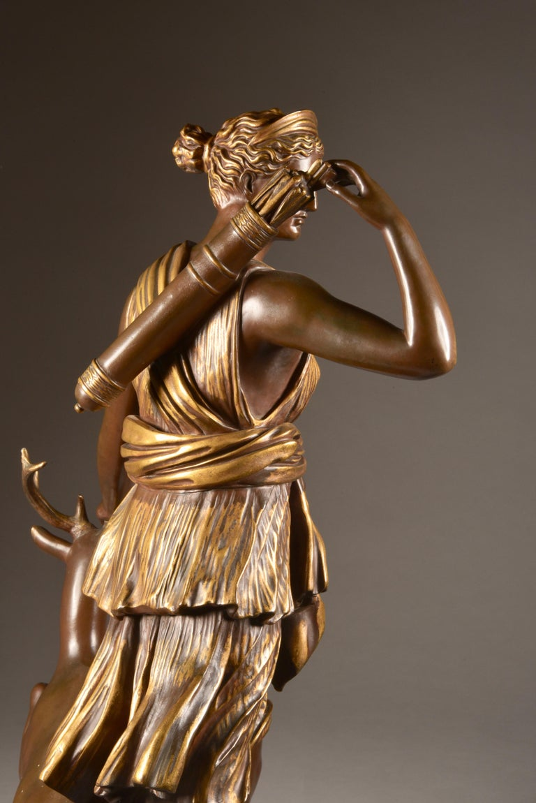 Large Sculpture of Diana the Huntress, F. Barbedienne & A. Collas, 19th Century For Sale 8