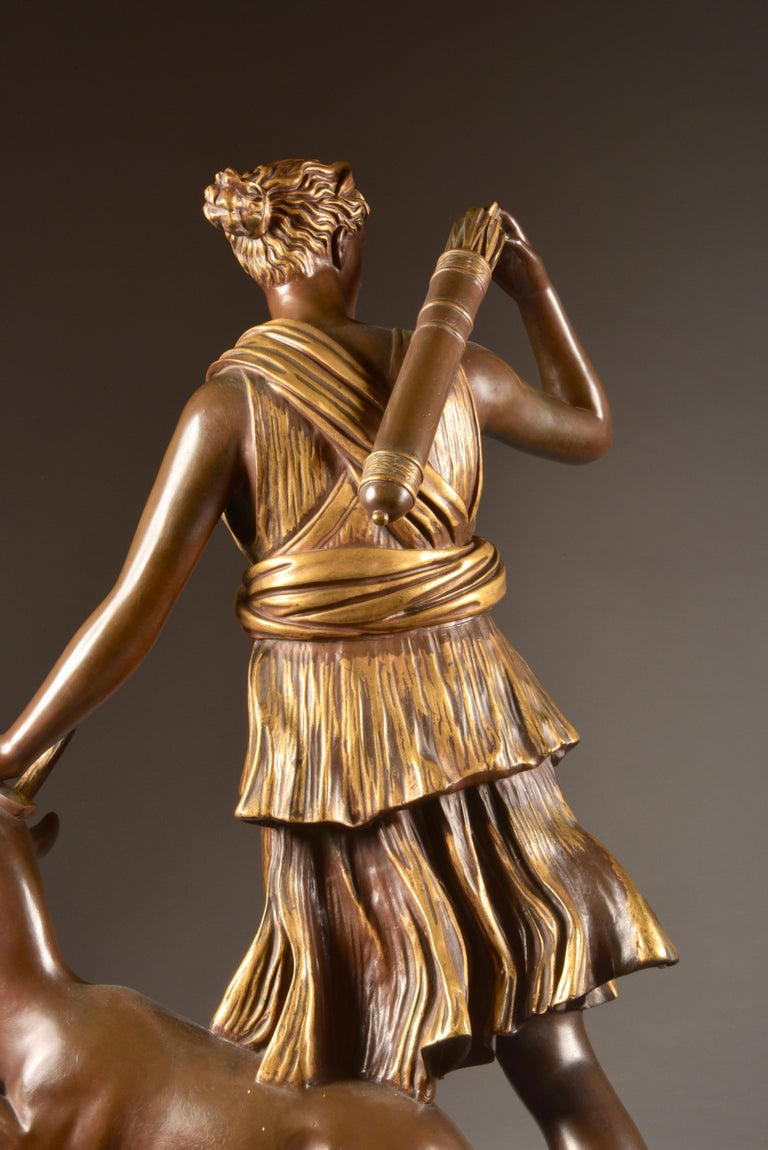 Large Sculpture of Diana the Huntress, F. Barbedienne & A. Collas, 19th Century For Sale 11