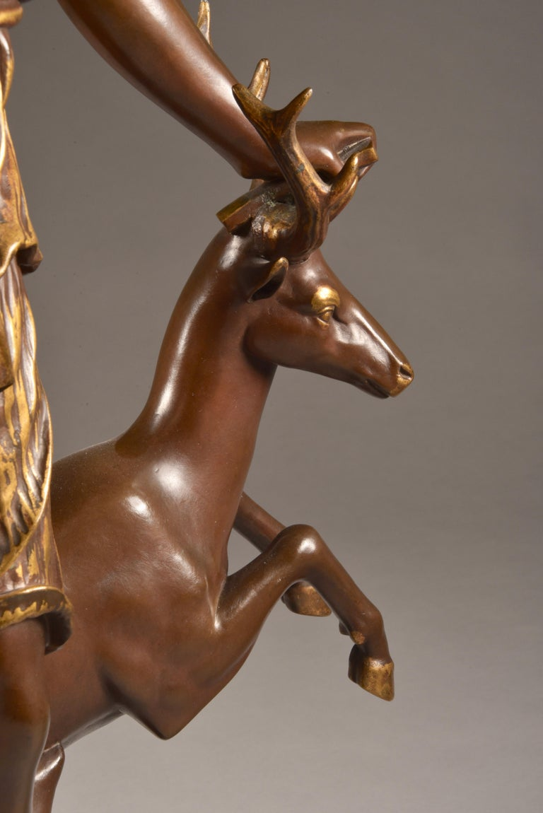 Large Sculpture of Diana the Huntress, F. Barbedienne & A. Collas, 19th Century For Sale 1