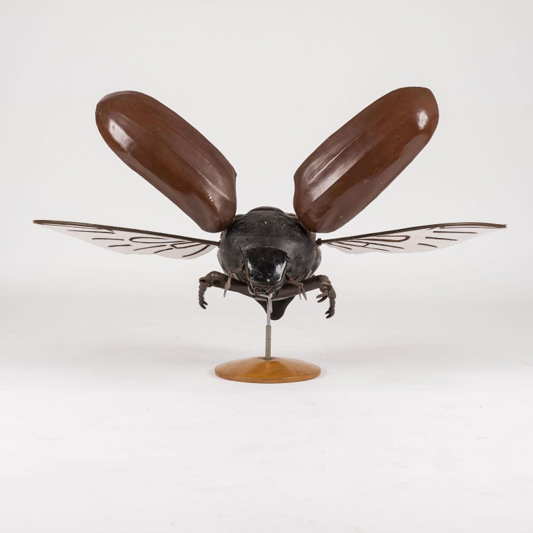 Mid-20th Century Large Sculpture of Insect in Flight For Sale