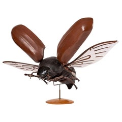 Large Sculpture of Insect in Flight