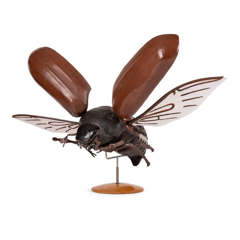 Large Sculpture of Insect in Flight For Sale
