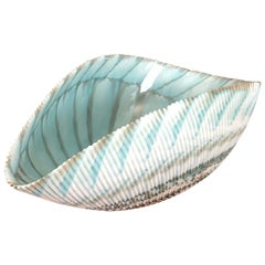 """Large """"Seashell"""" Shaped Centerpiece Bowl by Yalos for Murano Glass"""