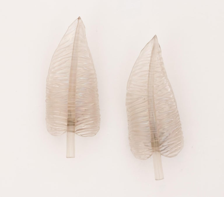 Large Seguso Feather Sconces For Sale 1