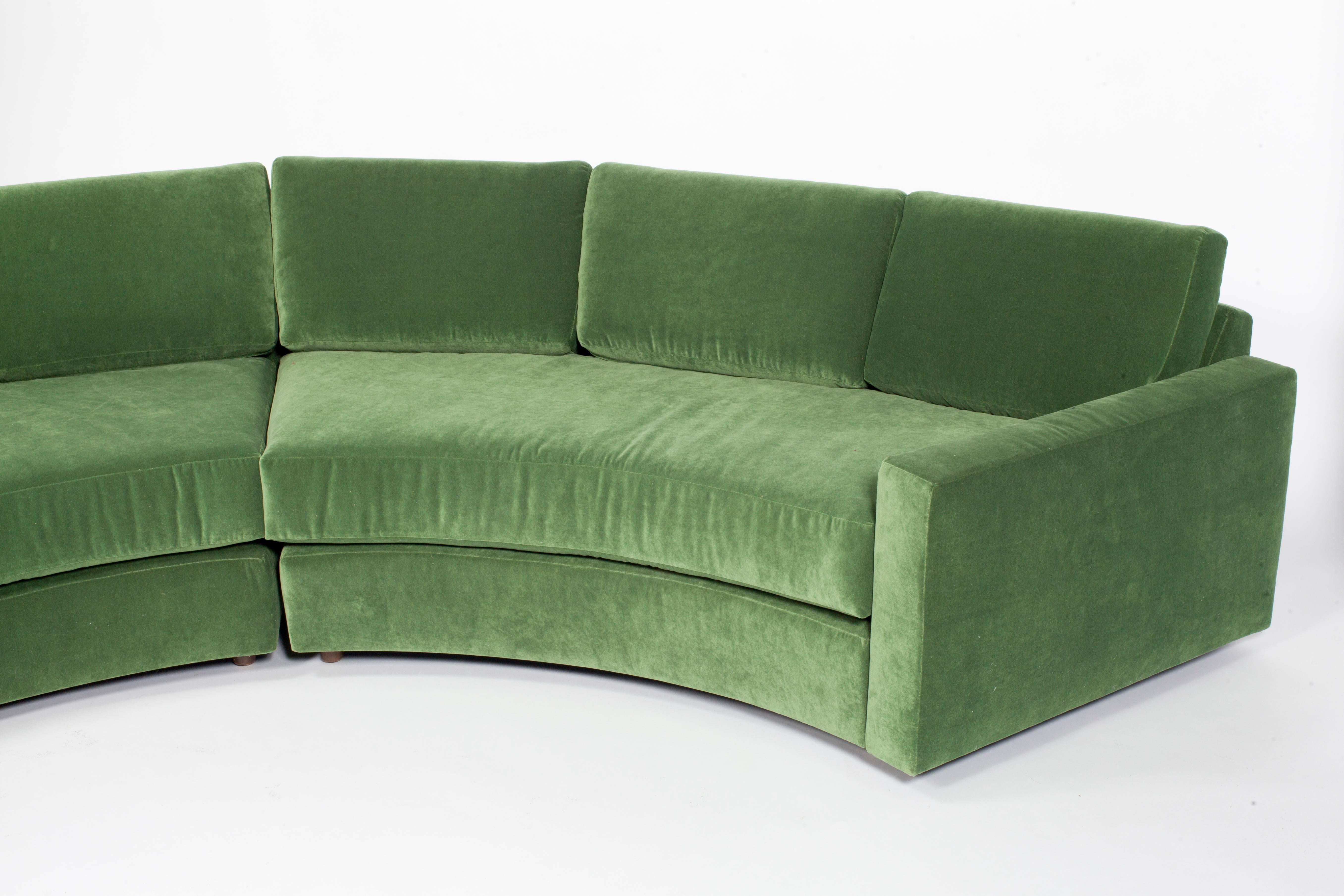 semi with half sofa leather stunning circle of additional couch couches
