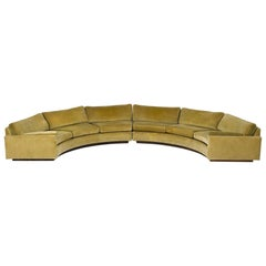 Large Semi-Circle Sectional Sofa by Milo Baughman for Thayer Coggin