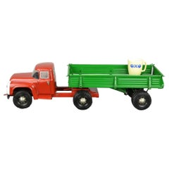 Large Semi-Trailer Metal Truck Toy, USSR, 1990s