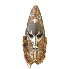 Large Sepik River Tribe Carved Wood Mask from Papua New Guinea