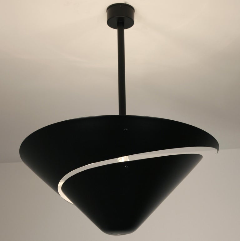 Large Serge Mouille 'Snail' Ceiling Lamp In New Condition For Sale In Glendale, CA