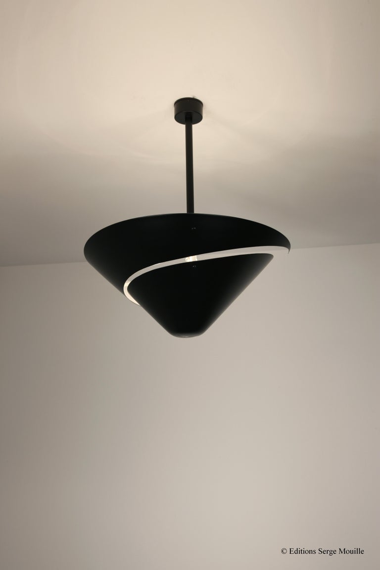 Contemporary Large Serge Mouille 'Snail' Ceiling Lamp For Sale