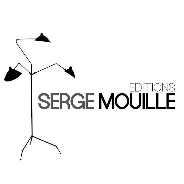 Large Serge Mouille 'Snail' Ceiling Lamp For Sale 1