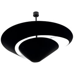 Large Serge Mouille 'Snail' Ceiling Lamp