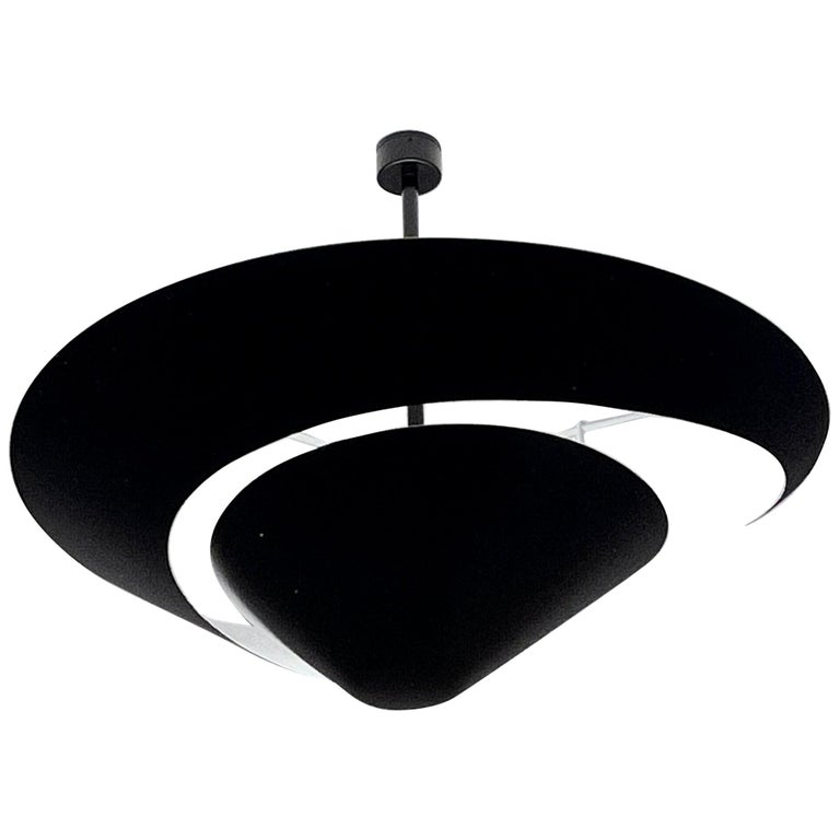 Large Serge Mouille 'Snail' Ceiling Lamp For Sale