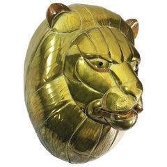 Large Sergio Bustamante Mounted Lion Head