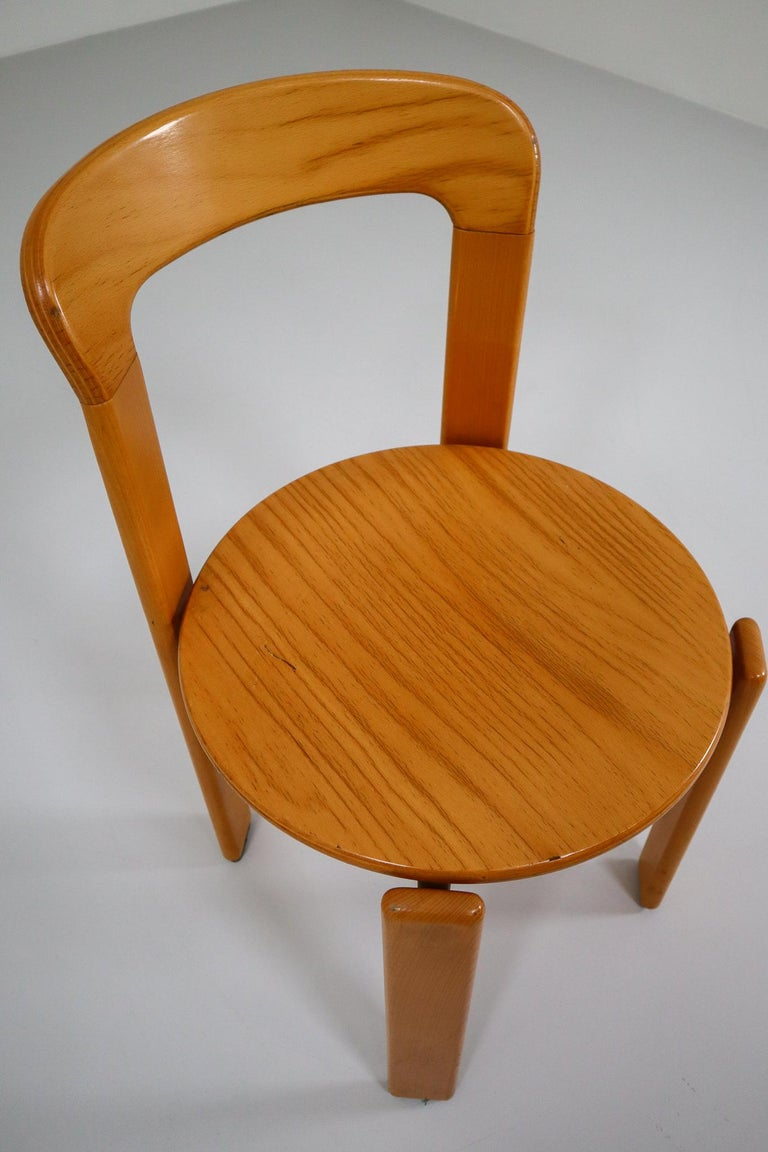 20th Century Large set Chairs by Bruno Rey for Kusch and Co., Switzerland, 1970s For Sale