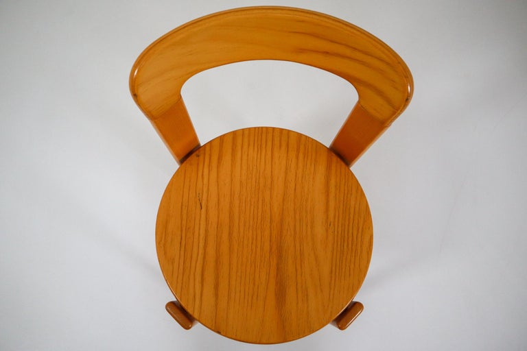 Beech Large set Chairs by Bruno Rey for Kusch and Co., Switzerland, 1970s For Sale