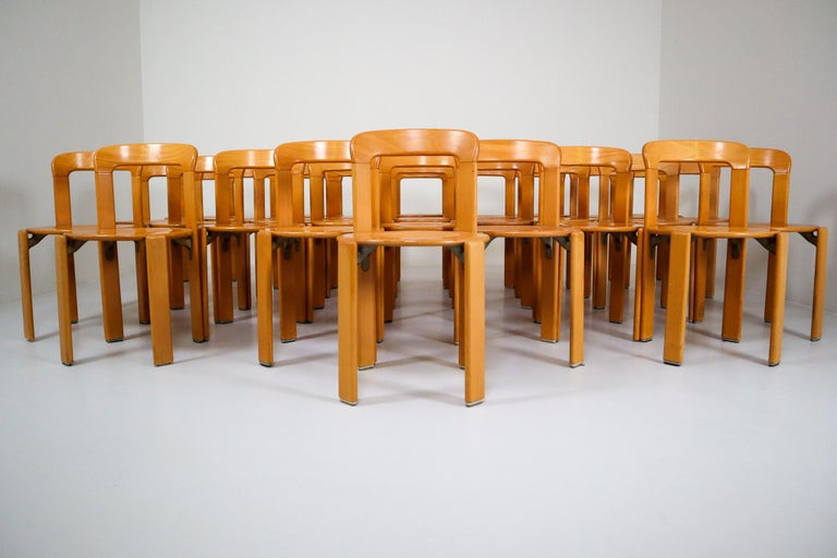 Large set Chairs by Bruno Rey for Kusch and Co., Switzerland, 1970s For Sale 1
