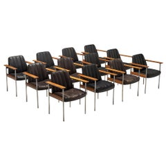 Large Set of 12 Armchairs in Rosewood by Sven Ivar Dysthe