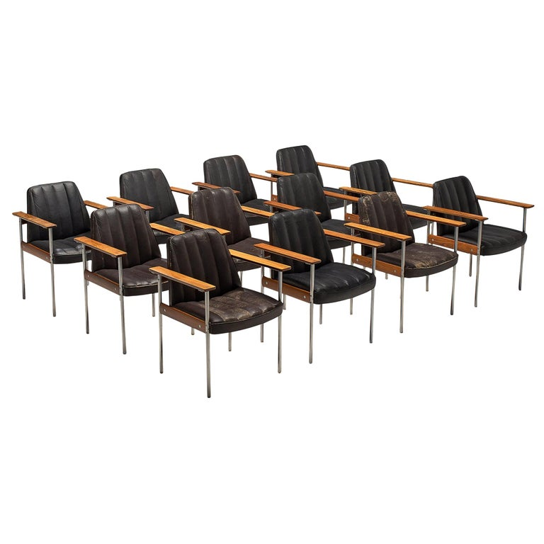 Large Set of 12 Armchairs in Rosewood by Sven Ivar Dysthe For Sale