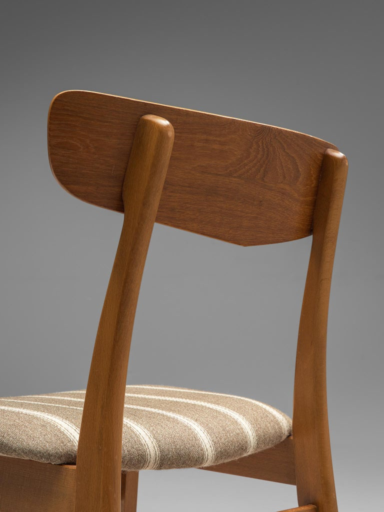 Large Set of 12 Dining Chairs in Teak, Denmark, 1960s For Sale 1