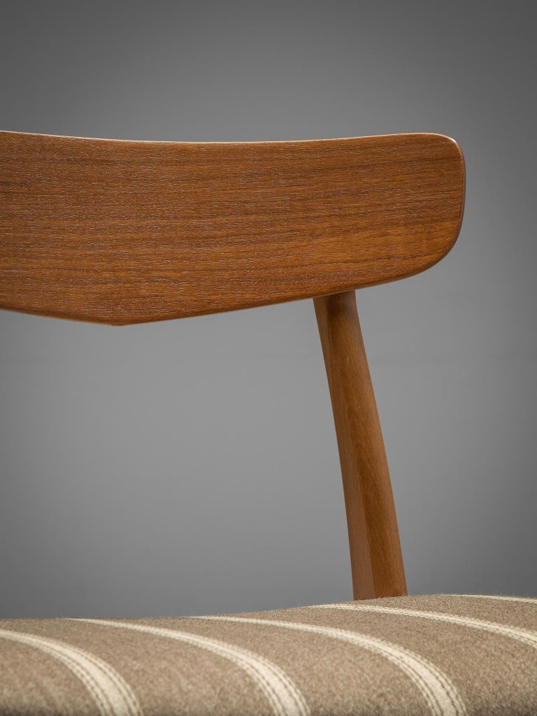 Large Set of 12 Dining Chairs in Teak, Denmark, 1960s For Sale 2