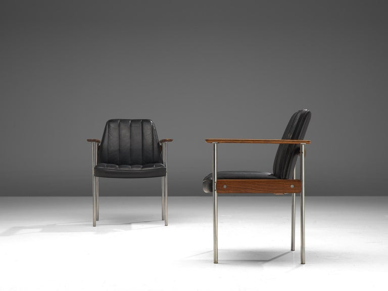 Mid-20th Century Large Set of 24 Chairs in Rosewood by Sven Ivar Dysthe For Sale