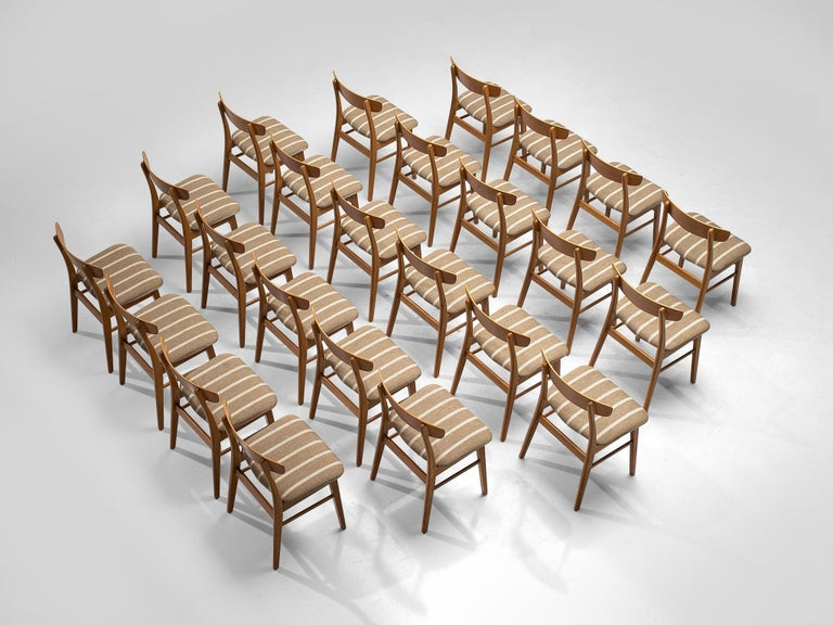 Danish Large Set of 24 Dining Chairs in Teak, Denmark, 1960s For Sale