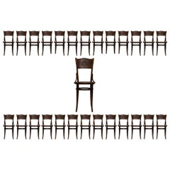 Large Set of 26 Bistro Dining Chairs by Thonet Vienna, Art Noveau