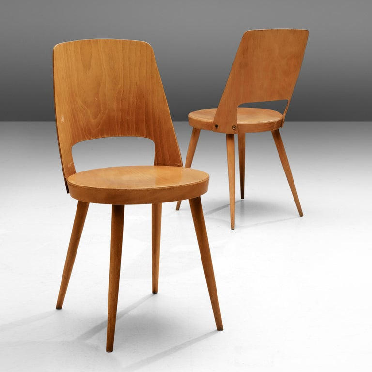 Large Set of Baumann 'Mondor' Chairs  In Good Condition For Sale In Waalwijk, NL