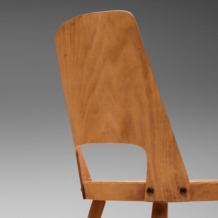 Beech Large Set of Baumann 'Mondor' Chairs  For Sale