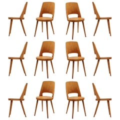 Large Set of Baumann 'Mondor' Chairs