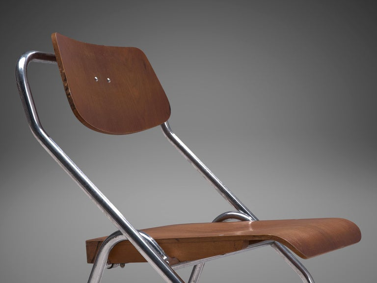 Large Set of Dutch Chairs with Tubular Frame + 200 For Sale 6