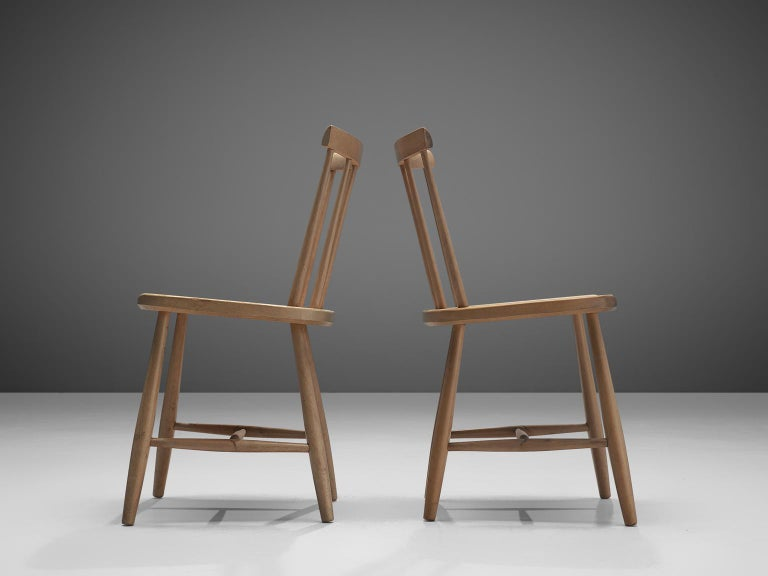 beech dining room furniture | Large Set of Ercol Beech Dining Chairs For Sale at 1stdibs