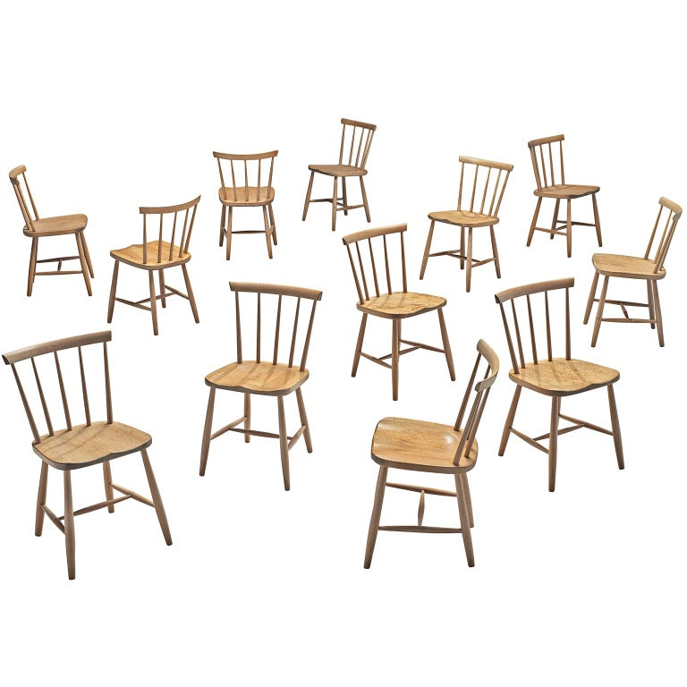 Oversized Dining Room Chairs: Large Set Of Ercol Beech Dining Chairs For Sale At 1stdibs