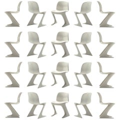 Large Set of Ernst Moeckl White Kangaroo Chairs + 100