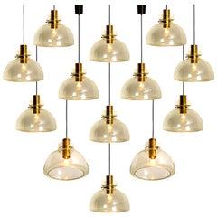 Large Set of Herbert Proft, Limburg Glashütte, Pendant Lights, P210 4207-1960