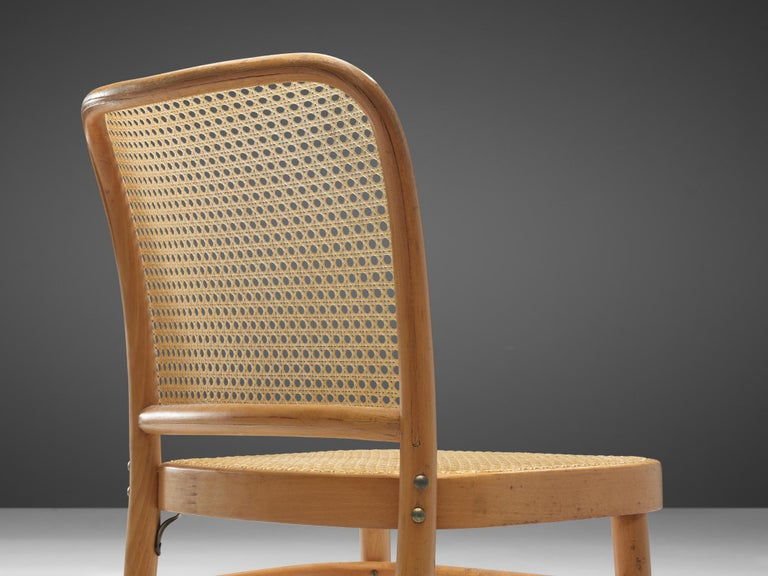 Cane Large Set of Iconic Ton Dining Chairs For Sale