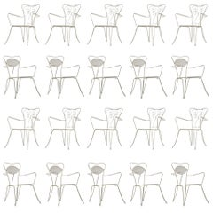 Large Set of Italian White Patio Chairs + 200