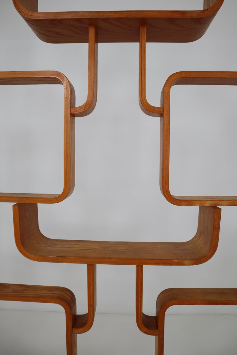 Large Set of Mahogany Color Midcentury Room Dividers in Bentwood, circa 1960s For Sale 1