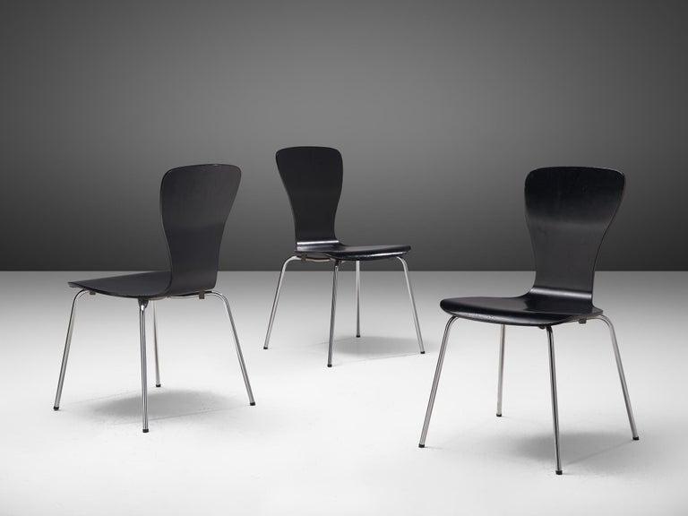 Large set of 'Nikke' Dining Chairs by Tapio Wirkkala 2