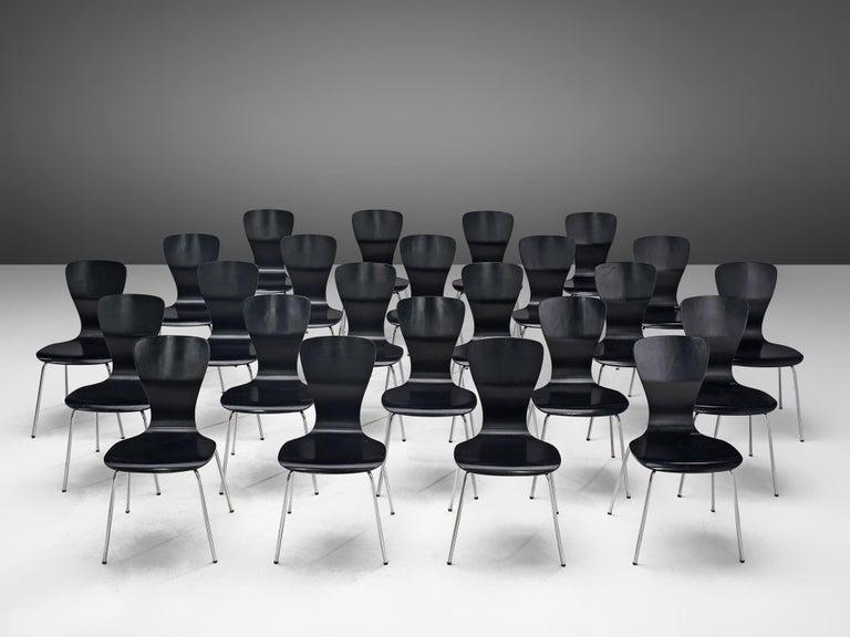 Mid-Century Modern Large set of 'Nikke' Dining Chairs by Tapio Wirkkala