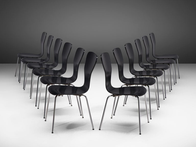 Finnish Large set of 'Nikke' Dining Chairs by Tapio Wirkkala