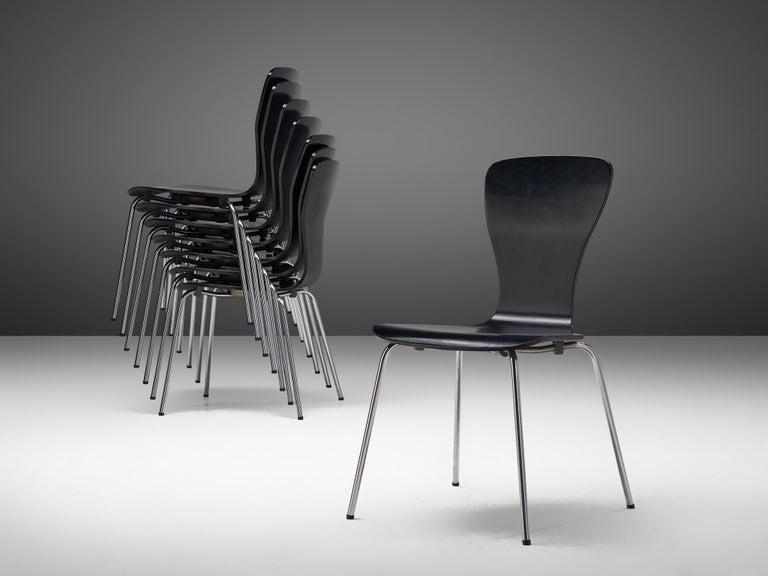 Plywood Large set of 'Nikke' Dining Chairs by Tapio Wirkkala