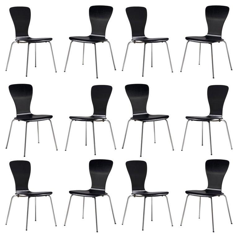 Large set of 'Nikke' Dining Chairs by Tapio Wirkkala