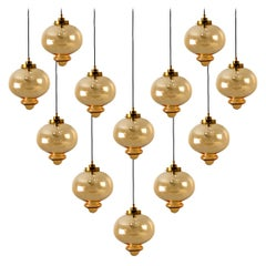 Large Set of Pendant Lights in the Style of RAAK, 1960s